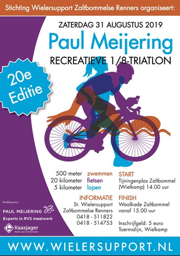 Affiche triatlon Paul Meijering