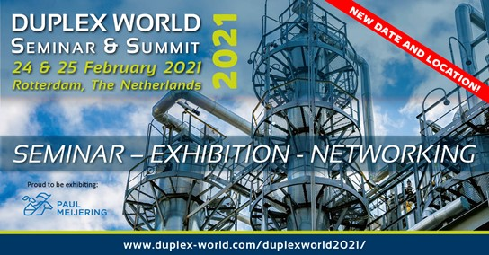 Duplex World 2021 Paul Meijering Stainless Steel